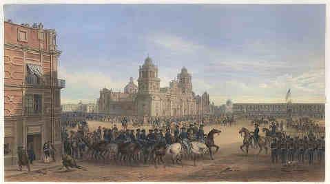 toma de la ciudad de mexico durante la intervencion estadounidense