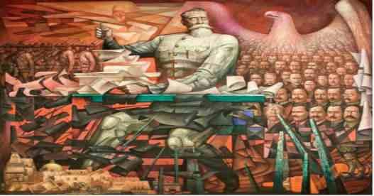 Mural Constitución de 1917. Jorge González Camarena